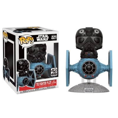 Figurine Star Wars Funko POP! Bobble Head Tie Fighter with Tie Pilot 15cm