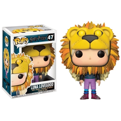 Figurine Harry Potter Funko POP! Luna Lovegood with Lion Head 9cm