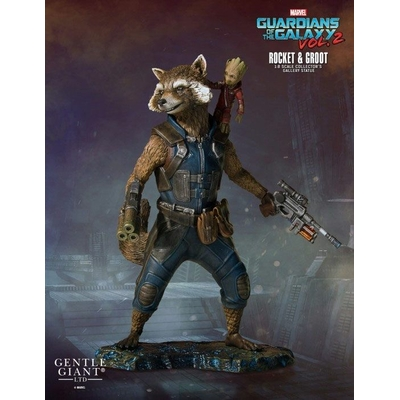 Statuette Les Gardiens de la Galaxie 2 Collectors Gallery Rocket & Groot 11cm