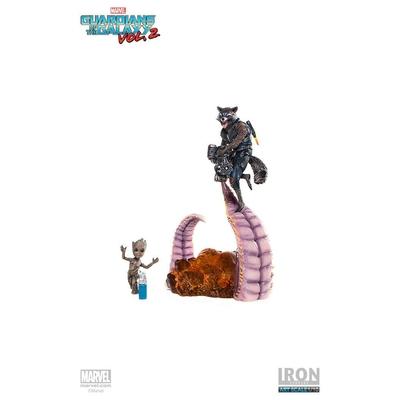 Statuette Guardians of the Galaxy Vol. 2 Battle Diorama Series Rocket & Groot 17cm