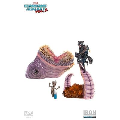Statuette Guardians of the Galaxy Vol. 2 Battle Diorama Series Rocket & Groot vs Obelisk
