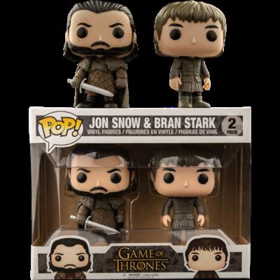Pack Le Trône de Fer Funko POP! Jon Snow & Bran Stark 9cm