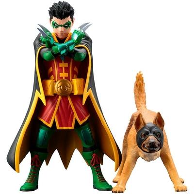 Pack statuettes DC Comics ARTFX+ Robin & Ace the Bat-Hound 15cm