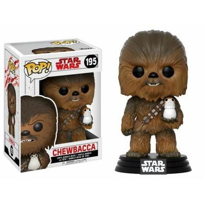 Figurine Star Wars Episode VIII Funko POP! Bobble Head Chewbacca & Porg 9cm