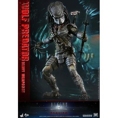 Figurine Alien vs. Predator Requiem Movie Masterpiece Wolf Predator Heavy Weaponry 35cm