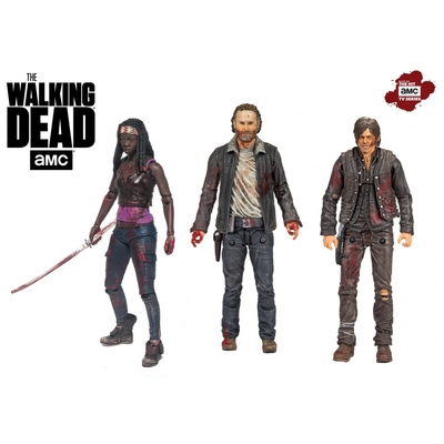 Pack 3 figurines The Walking Dead 13cm