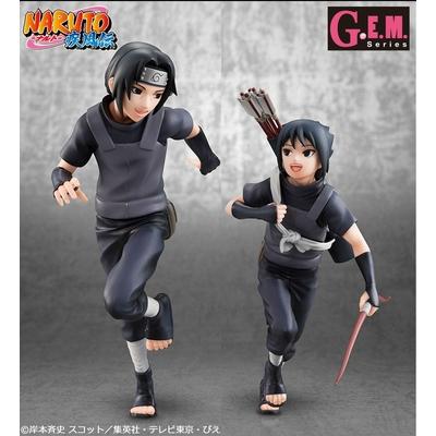 Statuette Naruto Shippuden Uchiha Itachi & Sasuke 16 - 18cm