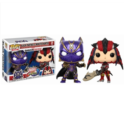 Pack Figurines Funko POP! Marvel vs. Capcom Infinite Black Panther vs Monster Hunter 9cm