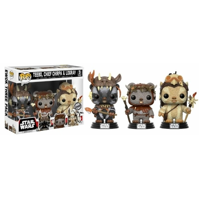 Pack Star Wars 3 figurines Funko POP! Teebo, Chirpa & Logray 9cm