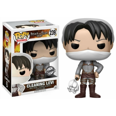 Figurine L'Attaque des Titans Funko POP! Cleaning Levi 9cm