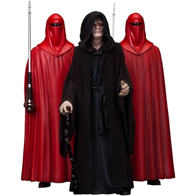 Pack 3 statuettes Star Wars ARTFX Emperor Palpatine & The Royal Guards 18cm