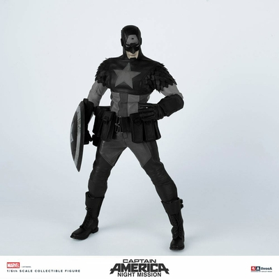 Figurine Marvel x ThreeA Night Mission Captain America by Ashley Wood 32cm