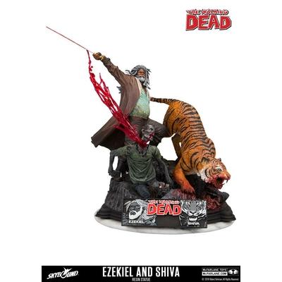 Statue The Walking Dead Ezekiel & Shiva 33cm