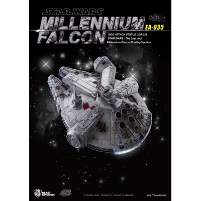 Diorama lumineux Star Wars Episode VIII Egg Attack Millennium Falcon Floating Ver. 14cm