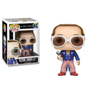 Figurine Elton John Funko POP! Rocks Elton John Red White & Blue 9cm