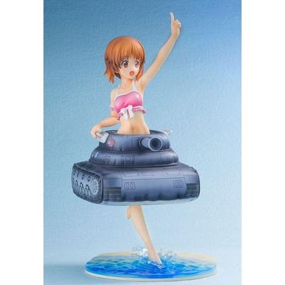 Statuette Girls und Panzer der Film Nishizumi Miho Swim Wear & Tank Style Float Ring Ver. 22cm