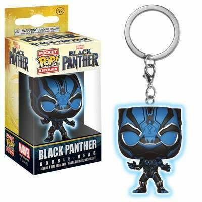 Porte-clés Black Panther Movie Pocket POP! Black Panther Glow 4cm