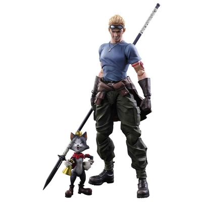 Figurines Final Fantasy VII Advent Children Play Arts Kai Cid Highwind & Cait Sith 9 - 27cm