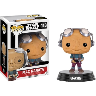Figurine Star Wars Episode VII Funko POP! Bobble Head Maz Kanata Goggles Up 9cm