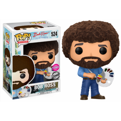Figurine The Joy of Painting Funko POP! Bob Ross Flocked 9cm