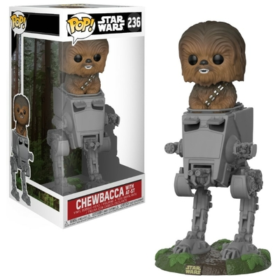 Figurine Star Wars Funko POP! Deluxe Chewbacca with AT-ST 10cm