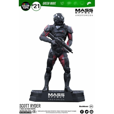 Figurine Mass Effect Andromeda Color Tops Scott Ryder 18cm