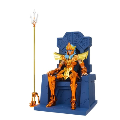 Figurine Saint Seiya Myth Cloth EX Poseidon Julian Solo Imperial Throne Set 18cm
