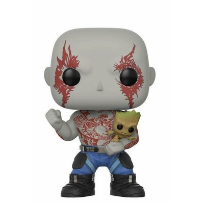 Figurine Les Gardiens de la Galaxie 2 Funko POP! Bobble Head Drax & Groot 9cm Exclusive