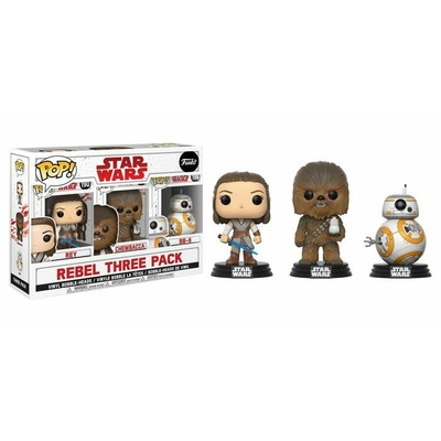 Pack 3 figurines Star Wars Episode VIII Funko POP! Rebel 9cm