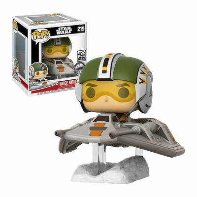 Figurine Star Wars Episode VII Funko POP! Bobble Head Wedge Antilles with Snow Speeder 15cm