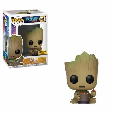 Figurine Les Gardiens de la Galaxie 2 Funko POP! Bobble Head Groot & Candy Bowl 9cm
