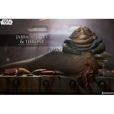 Figurine Star Wars Episode VI Jabba the Hutt & Throne Deluxe 34cm