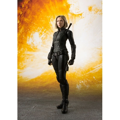 Figurine Avengers Infinity War S.H. Figuarts Black Widow & Tamashii Effect Explosion 15cm