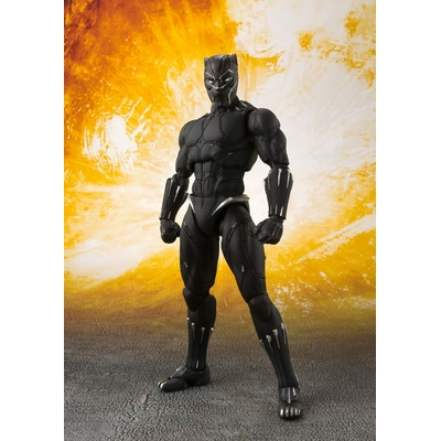 Figurine Avengers Infinity War S.H. Figuarts Black Panther & Tamashii Effect Rock 16cm