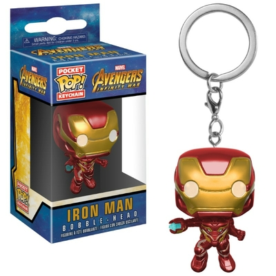 Porte-clés Avengers Infinity War Pocket POP! Iron Man 4cm