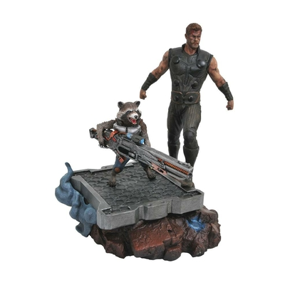 Statuette Avengers Infinity War Marvel Premier Collection Thor & Rocket Raccoon 30cm