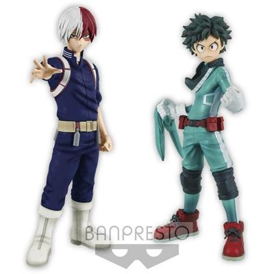 Figurines My Hero Academia DXF Izuki Midoriya & Shoto Todoroki 15cm