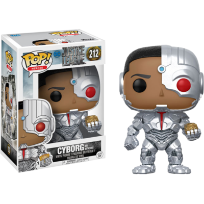 Figurine Justice League Funko POP! Cyborg with Mother Box Exclusive 09cm