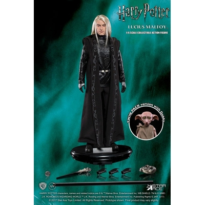 Figurines Harry Potter Lucius Malfoy & Dobby 15-30cm