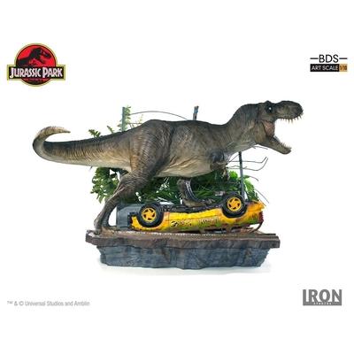 Diorama Jurassic Park Art Scale T-Rex Attack Set A - 56cm
