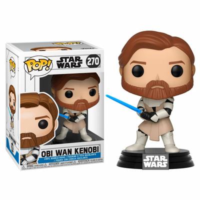 Figurine Star Wars Clone Wars Funko POP! Bobble Head Obi Wan Kenobi 9cm