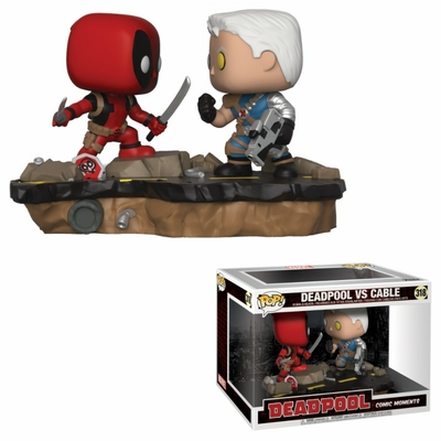 Figurine Deadpool pack 2 Funko POP! Movie Moments Bobble Head Deadpool vs. Cable 9cm