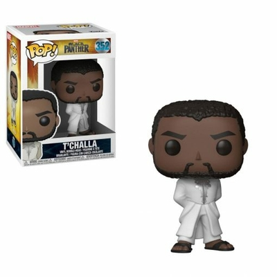Figurine Black Panther Funko POP! Bobble Head Black Panther T'Challa Robe White 9cm