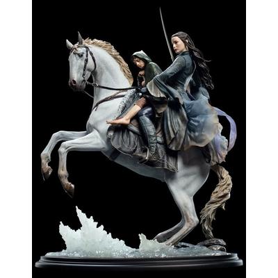 Statuette Le Seigneur des Anneaux Arwen & Frodo on Asfaloth 40cm