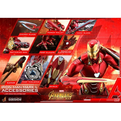 Accessoires Avengers Infinity War pour figurines Accessories Collection Series Iron Man Mark L