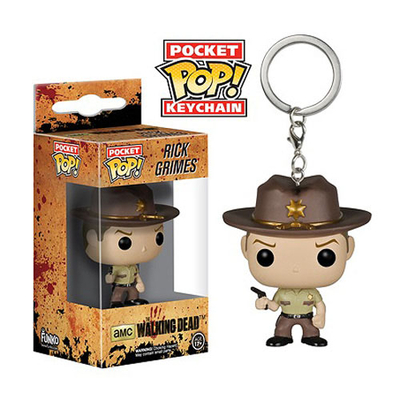 Porte-clés The Walking Dead POP! Rick Grimes 4 cm