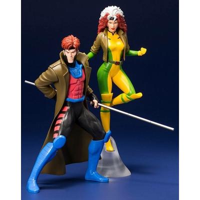 Pack Marvel Universe 2 statuettes ARTFX+ Gambit & Rogue (X-Men '92) 19cm