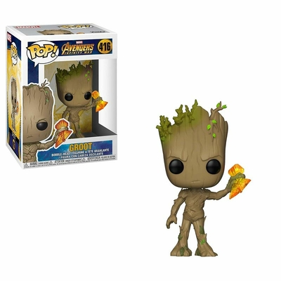 Figurine Avengers Infinity War Funko POP! Groot with Stormbreaker 9cm