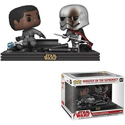 Pack 2 Funko POP! Star Wars Movie Moments Bobble Head Finn vs Captain Phasma 9cm