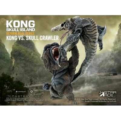 Statuette Kong Skull Island Deform Real Series Soft Vinyl Kong vs Crawler 23cm
